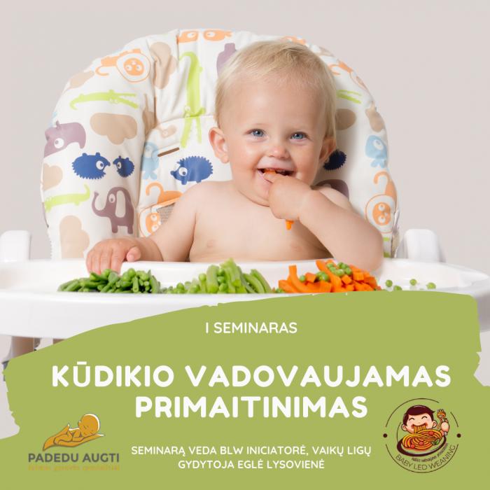 """I seminaras ,,Kūdikio vadovaujamas primaitinimas"""""""